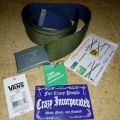 Vans Knox Web Belt Rifle Green/Dressed Blue Original