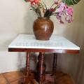 Meja makan marmer persegi 70x70cm