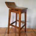 Bar stool retro kayu jati & bisa putar