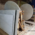 Meja makan marmer persegi panjang 70 x 120 cm