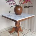 Meja makan persegi 80 x 80 cm marmer italy