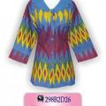 Blus Batik, Model Atasan Batik, Busana Wanita Atasan Batik Wanita, KBRAB1