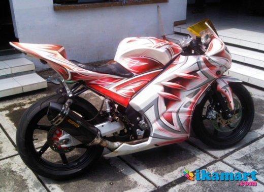 terbaru modifikasi vixion 2012 warna putih