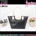 Tas Wanita Fashion - Black Cream Shoulder Bag
