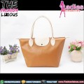 Tas Wanita Fashion - Brown Cream Shoulder Bag