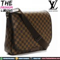 Tas Slempang Kulit - Louis Vuitton Damier Brown