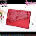 Handbag Fashionable - Snake Pattern Red