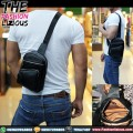 Waistbag Kulit Asli - 878 Black