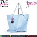 Tas Fashion Wanita - Blue Rhombus Chain Slingbag