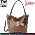 Tas Fashion Wanita - Coffee Leather Shoulderbag