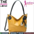 Tas Fashion Wanita - Orange Leather Shoulderbag