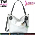 Tas Fashion Wanita - Silver Leather Shoulderbag