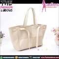 Tas Fashion Wanita - Cream Square Shoulderbag