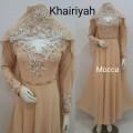 Gamis Khairiyah + shawl Mocca