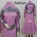 Gamis Rabiah + shawl pink