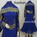 Gamis Rabiah + shawl Elektrik Blue