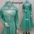 Gamis Khairiyah + shawl mint