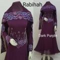 Gamis Rabiah + shawl Dark Purple
