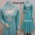 Gamis Khairiyah + shawl Baby blue