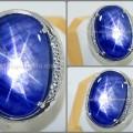 Elegant Big Size Blue SAFIR Star. No Heat - SPS 191