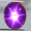 Antique Metallic Purple MISTIK QUARTZ STAR - BMQ 010