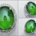 Batu GIOK Crystal Sepertine, Hijau Garut Colour - RCH 069
