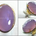 Natural LAVENDER CHALCEDONY. TOP Ungu Terong - RCH 023
