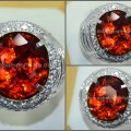 Sparkling Hot Orange PADPHARASCHA TOURMALINE Crystal - RTR 002 + MEMO