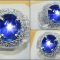 Elegant Royal Blue SAFIR Star NH Sri Lanka - SPS 221 + Sertifikat