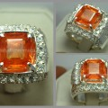 Batu Permata Breathtaking Orange SAFIR - SPC 039 + Sertifikat