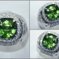 Elegant HOT Green SAFIR. Crystal Mulus - SPC 244