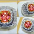 Elegant Vivid Hot PADPHARASCHA Cristal TOP + GRS - PP 072