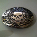 Sabuk Buckle Skull Harley Oval Stainless Steel