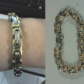 Gelang Chain Silver Gold Stainless Steel