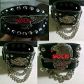 Gelang Bangle Harley Punk Leather