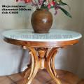 Meja bulat marmer diameter 100cm