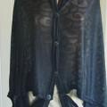 Black Swirl Scarf (Jersey Black No: 2)   Scarf Multifungsi   Scarf Murah