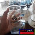Icup plastik pp uk 14oz / gelas plastik uk 14oz + tutup flat