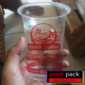 PROMO Sablon Cup Gelas Plastik PP 22 Oz 10gr Tutup Cembung (isi 1000)