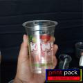 sablon gelas plastik oval murah