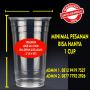 Sablon Cup / Gelas Plastik paper cup paper biwl Dengan Logo Sendiri   Sablon Cup Plastik dan Sablon Gelas Murahhhhh MERI
