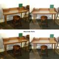 meja kerja ala retro