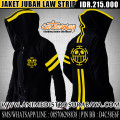Jaket Jubah Law Strip - Anime Distro Surabaya