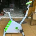 Sepeda Fitnes Sepedah Statis Olahraga Magnetic Hijau Putih Terlaris Pnurun Brt Badan