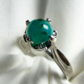 Bacan Doko Kristal For Ladies - Ring Silver