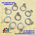 Jual dan Produksi Ring Anti Theft, Ring Anti Theft Gantungan Hanger Kayu