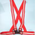 rompi karet merah,safety vest rubber reflective elastic V shape