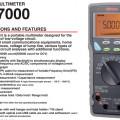 multitester multimeter digital sanwa pc7000,avometer pengukur arus listrik