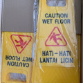 papan tanda peringatan lantai licin,Warning sign caution wet floor
