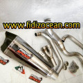 knalpot Prospeed shark Black series ninja 250-300 Fi. Header looks like titanium